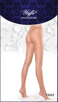 Meia Calça Cor da Pele Transparente com Strass – Lingerie Sexy - Yaffa Lingerie