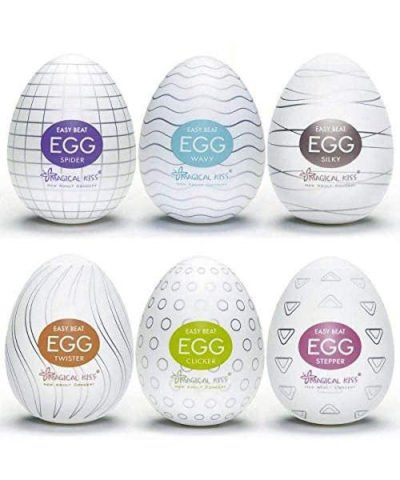Caixa com 6 unidades de Egg masturbador da magical kiss todas as texturas